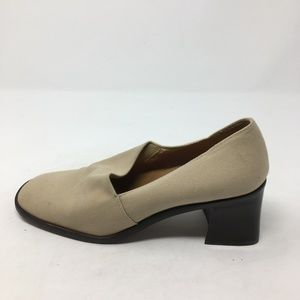 ENZO ANGIOLINI TAN SLIP ON HEELS 6.5M
